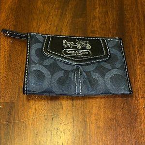 Coach Cardholder Wallet Black bag keychain